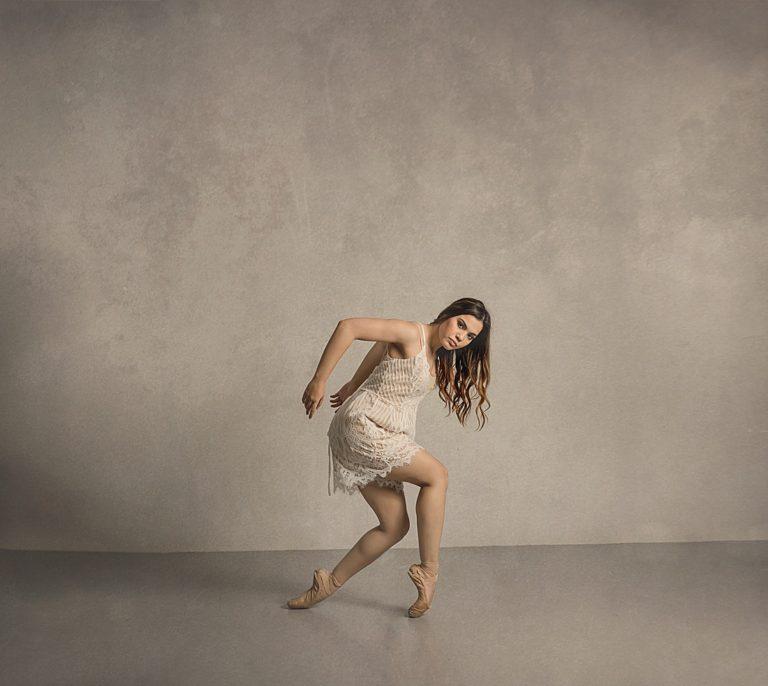 professional dancer, studio photo shoot